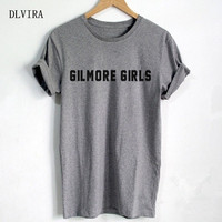 DLVIRA S XXXL Gilmore Girls Letters Print Women T Shirt Casual Cotton Funny Shirt