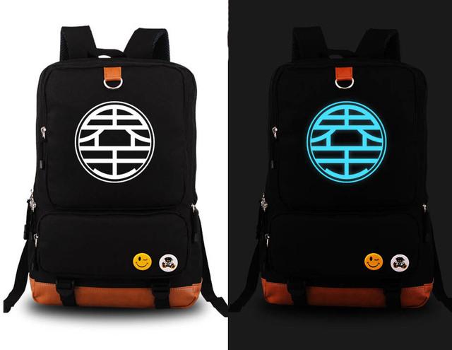 Dragonball Z Son Goku Kame Symbol Backpack Canvas Schoolbag