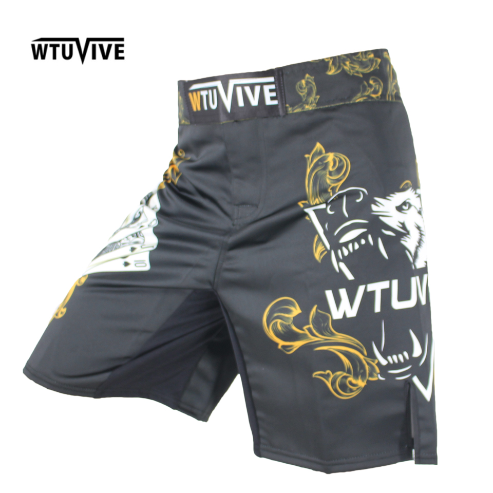 WTUVIVE Men 39 s Yellow Poker Warrior Boxing Fitness Breath boxing shorts Tiger muay thai boxing shorts cheap mma shorts kickboxing in Boxing Trunks from Sports amp Entertainment