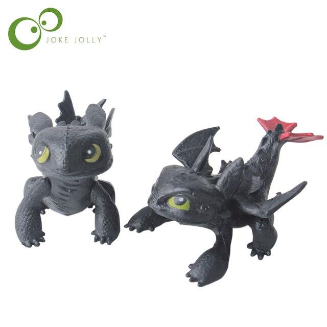 Как приручить дракона игрушки Фигурки героев Ночная ярость Беззубик ПВХ  Дракон Дети Brinquedos детские игрушки Juguetes 5522cea2f98f1