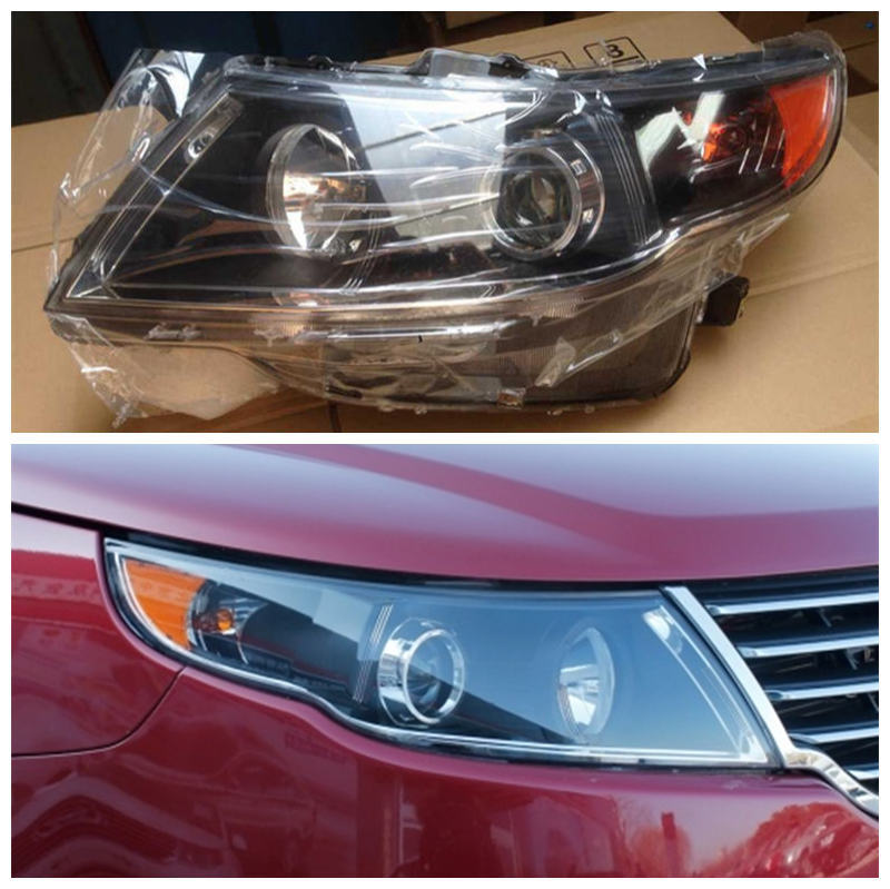 Geely GC7,Car front headlight assembly geely gc7 car silver background headlight head light transparent cover with the glue