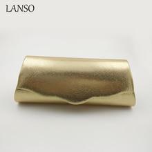 Europäischen und Amerikanischen Frau Klassische Clutch Gold Farbe Einfache frauen Brieftasche Kette Messenger Schultertasche Winter Geld Halter