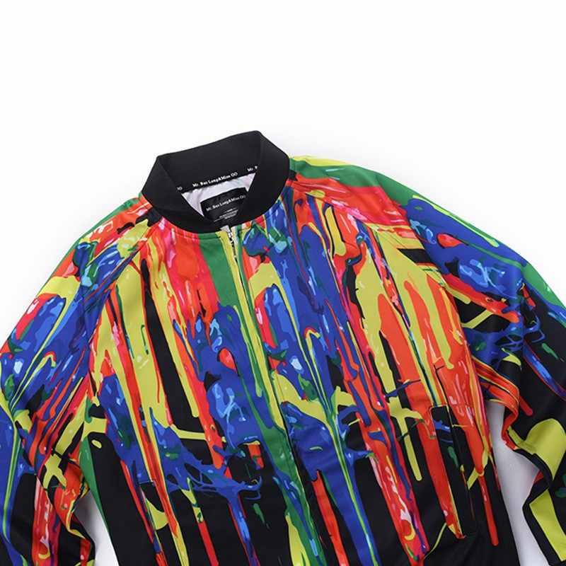 Цифровая печать куртка 2019 Весна Мужская куртка Тонкий длинный рукав мужская мода ветровка куртка брендовая одежда капля мужская куртка бомбер мужской куртка мужская осень тактическая куртка тактическая куртка  куртка