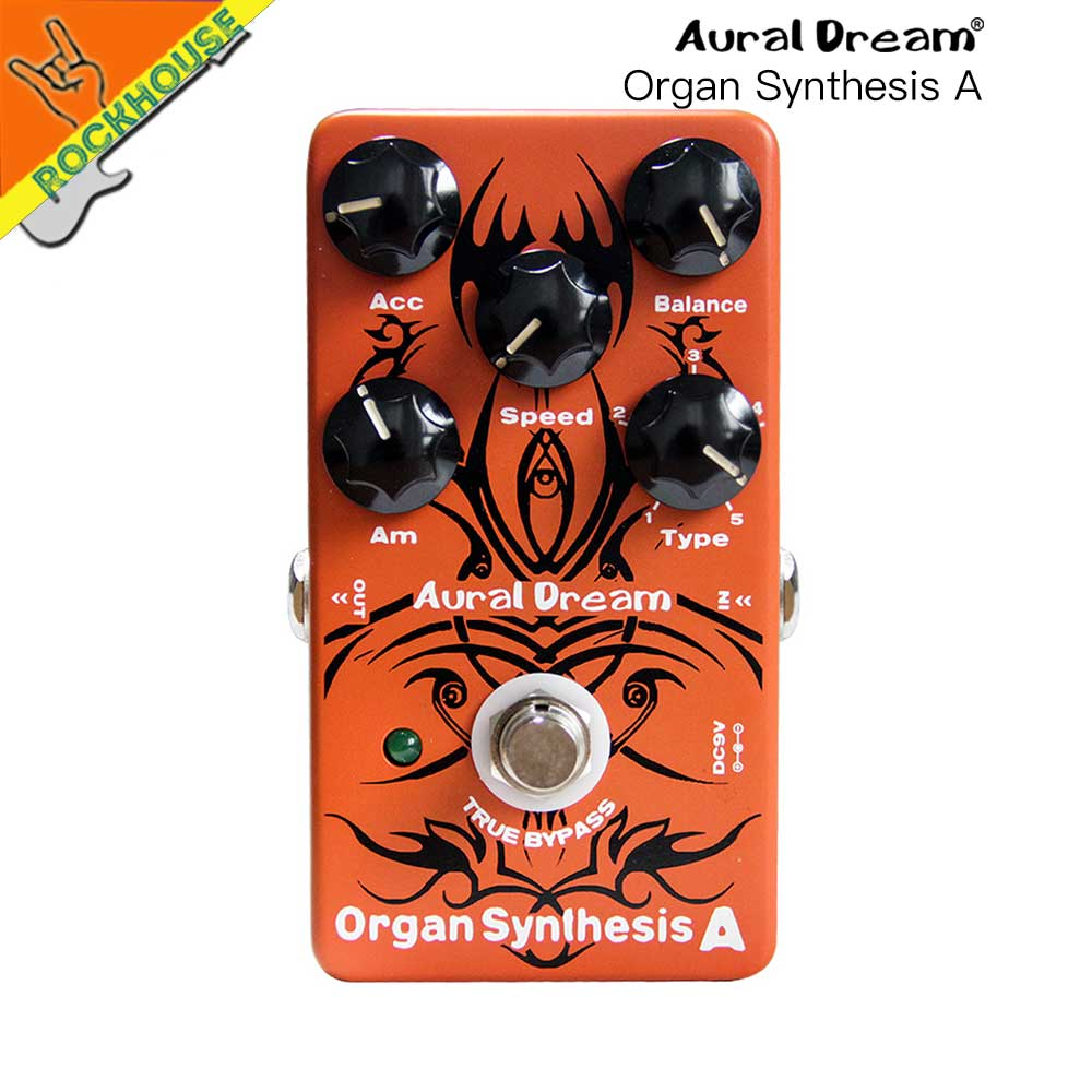 Aural Dream Digital Organ Simulator Guitar Effects Pedal Organ Synthesis Pedal Best for Church Music True Bypass Free Shipping aroma adr 3 dumbler amp simulator guitar effect pedal mini single pedals with true bypass aluminium alloy guitar accessories