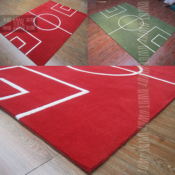 Fashion Carpet Red Green Basketball Court Mat Handmade