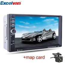 7″ HD 2 Din Сенсорный Экран Bluetooth 2.0 Рулевое Управление Автомобильный MP5 плеер GPS навигация FM/AUX-вход /USB/SD In Dash Аудио Радио