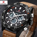 Reloj Hombre Naviforce Watch Men Fashion Leather Strap Male Sports Quartz-Watch Waterproof Watches Men clock bayan kol saati