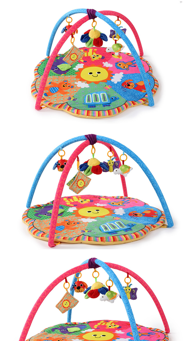 New Design Colorful Fun Animals Baby Play Mats 0-1 Year Baby Educational Toy Sports Crawling Pads Play Activity Gym Blanket 5