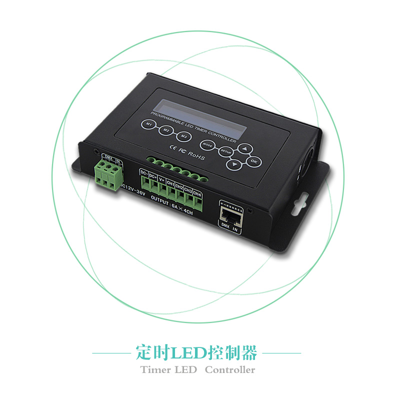 BC-322-6A DC12V-36V Timer LED Dimmer Aquarium Controller Led Light DMX 512 input Programmable XLR-3 ,RJ45 with LCD display
