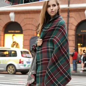 Image 2 - [FEILEDIS]Women Cashmere Scarves  Long Wraps Scarf Autumn Scarf England Classic Plaid Scarve