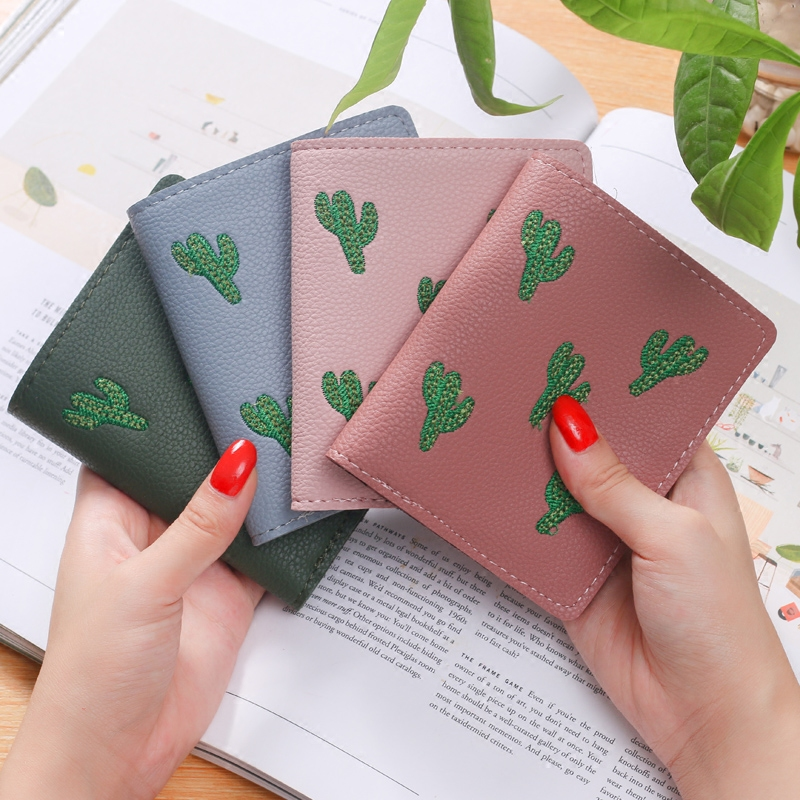 Wallet Lovely Clutch Embroidery mini Clutch Thin Travel lady's card Rfid Wallets Coin puses Wallet Carteras portefeuille Bolsa 2