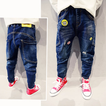Boys pants 2018 new spring kids clothing big boys jeans doll cotton trousers baby children harem roupas infantis menina leggings Boys Jeans
