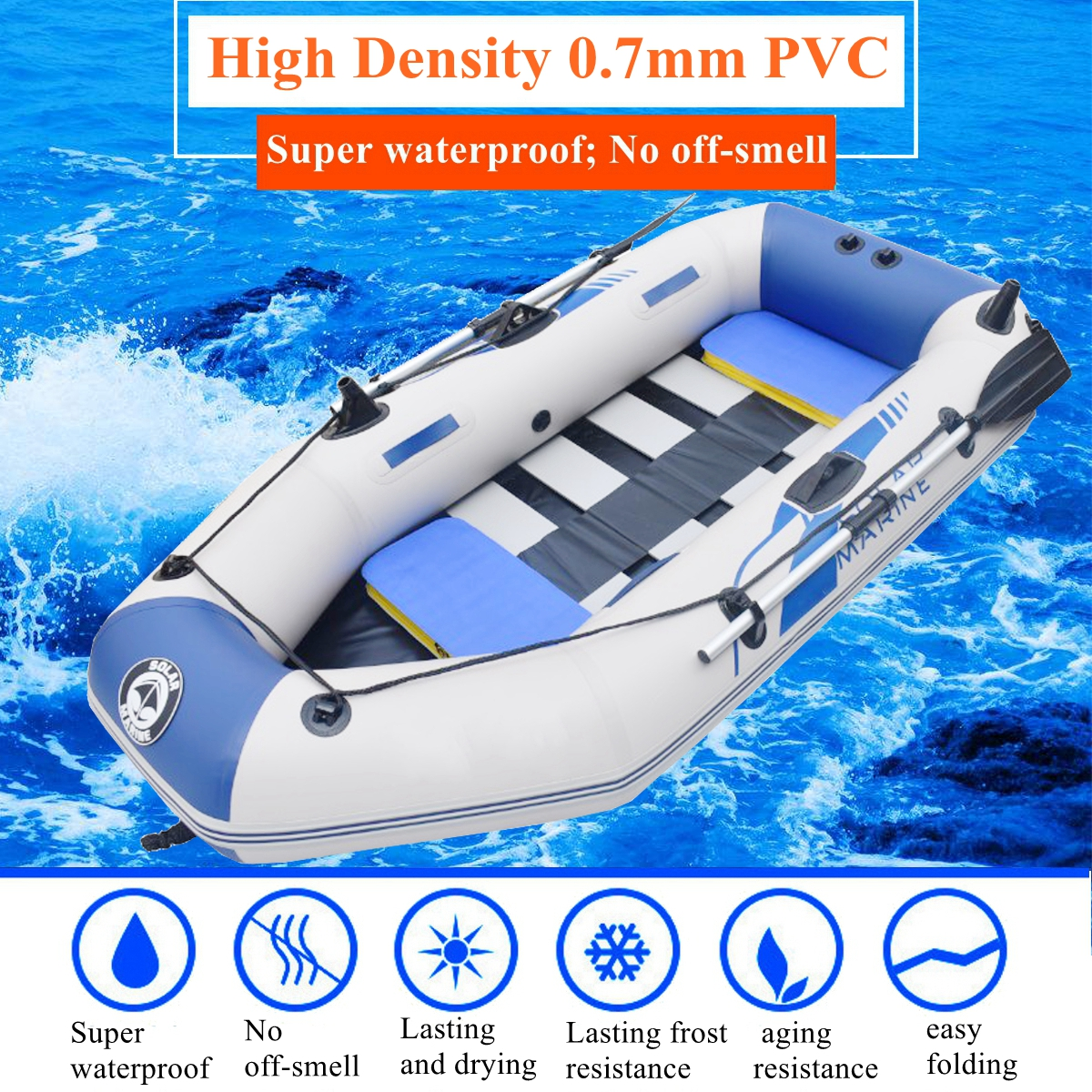 1.75/2m slats bottom inflatable boat PVC material professional inflatables boat fishing boat laminated wear-resistant boat boat