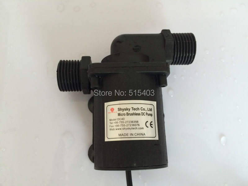 1pcs 9-24Vdc Micro Brushless DC water pump Lift 7.5M Flow 800LPH Long life Low noise Absolutely safety