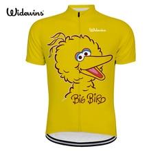 wins big bird cycling jersey women pro team Cycling Wear Soft yellow dots Bicycle Clothes Clothing bike wear 801