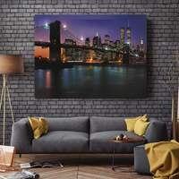 300x400mm 3D LED-licht Bild Nacht Schneit Baum Straße Ölgemälde City Night View Home Decor