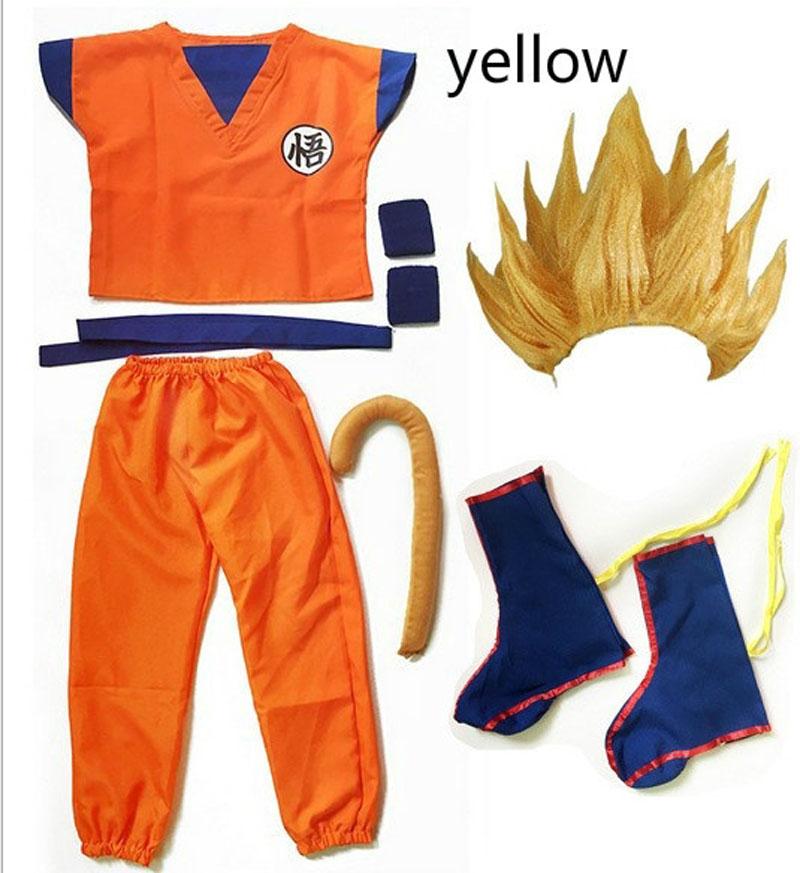 2019 Kids/Adult Halloween Anime Dragon Ball Z Son GoKu Cosplay Costume Party Set Pakistan
