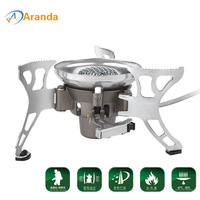 BRS 15 Windproof Big Power Split Type Outdoor Camping Picnic Cooker Burner Gas Stove Auto Ignition
