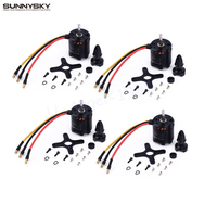 4set/lot SunnySky X2820 800KV 920KV 1100KV outrunner Brushless Motor Engine Servo OSD ESC For RC Airplane Quadcopter Hexrcopter