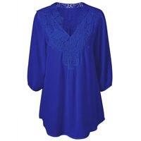 Women Blouses Summer Lace Chiffon Blouse Blusa Feminina Tops Fashion Chemise Femme Shirts Plus Size 5XL