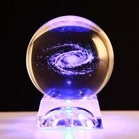 3D Laser Engraved Crystal Ball Quartz Glass Sphere Miniatures Gifts Christmas Present Accept Custom Photo