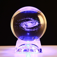 3D Laser Engraved Crystal Ball Quartz Glass Sphere Miniatures Gifts Christmas Present Accept Custom Photo