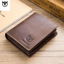 Genuine Leather Men Wallets Vintage Cow Leather