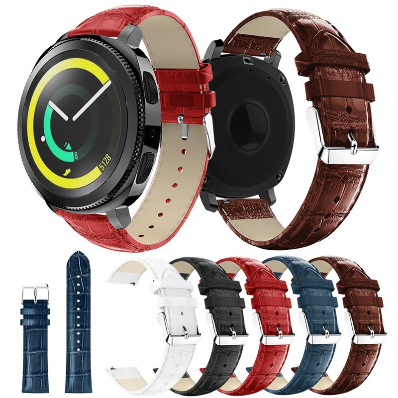 Leather Watchband 22mm For Samsung Gear S3 Classic Frontier Watch Band Wrist Strap Replacement Bracelet Strap genuine leather black brown strap for samsung gear s3 band frontier strap for gear s3 classic watchband 22mm watch bracelet