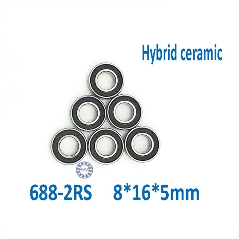 Free Shipping 688 2RS CB ABEC7 8X16X5mm chromel Steel Hybrid Ceramic Bearings/Bike Bearings free shipping for american bombshell mavic fulcrum hed sun vuelta s6001 2rs cb 12x28x8mm