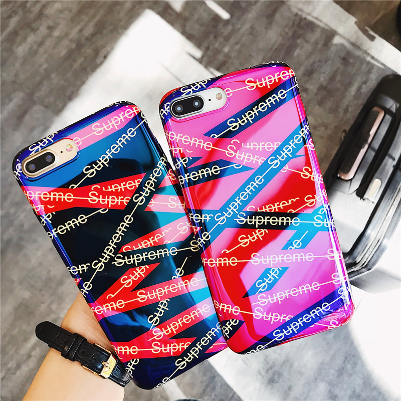 Luxury Super Letters Blu-Ray Soft Phone Case for iPhone X 6 6s 7 8 Plus Case For Samsung Galaxy S9 Plus S8 Plus Note 8 Cover