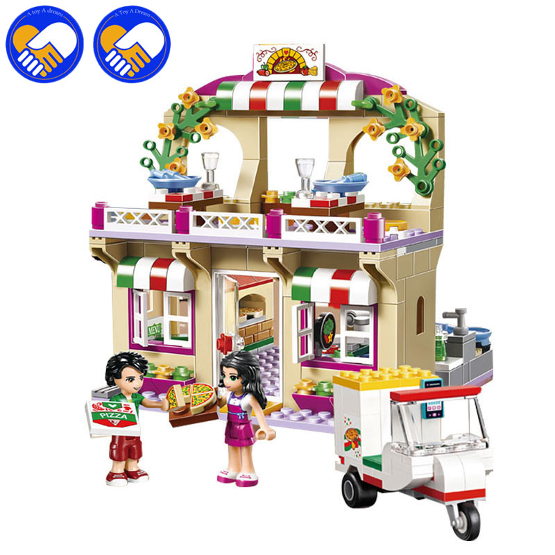 A TOY A DREAM 01011 Girl Princess Good Amigos Series Restaurant Series Pizza Toy For Children Educational Building Blocks Toys 48pcs good quality soft eva building blocks toy for baby