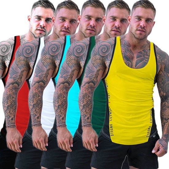 ZOGAA 2018 new cotton stitching vest Men Sports Vest Men 39 s Fitness Vest Men Tank Tops 8 colors Size S XXXL in Tank Tops from Men 39 s Clothing