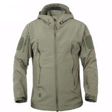 TAD зимняя куртка из кожи акулы, военная ветрозащитная тактическая куртка софтшелл, Мужская водонепроницаемая армейская мягкая куртка, ветровка от дождя