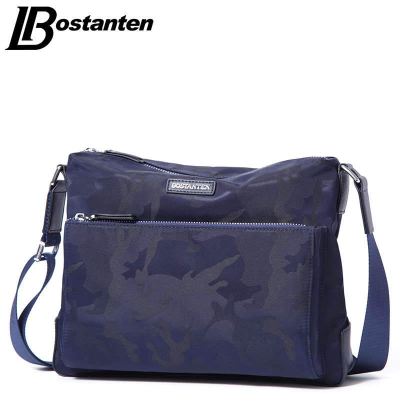 BOSTANTEN Camouflage Men Bag 2017 Fashion Mens Shoulder Bags High Quality Nylon Casual Messenger Bag Business Men's Travel Bags 2017 bostanten travel men s big bags 100