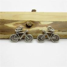 70PCS (21*15mm )Antique Silver bike Charms pendant fit European bracelet made diy Pendants for jewelry making