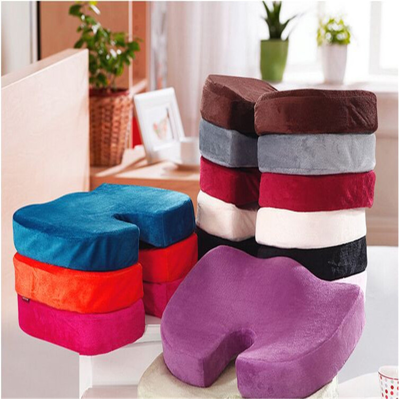 45x35CM U Shape Seat Cushon Memory Foam Butt Shaping Super Toy Sofa Cushion Soft Plush Case Home Dec Textile seat cushion