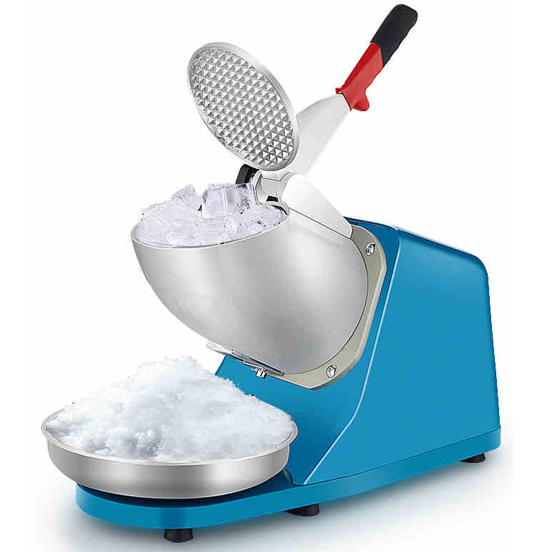 Electric Ice Crusher Ice Shaver Commercial DIY Ice Cream Maker for Coffee Shop Hotel edtid electric commercial cube ice crusher shaver machine for commercial shop ice crusher shaver