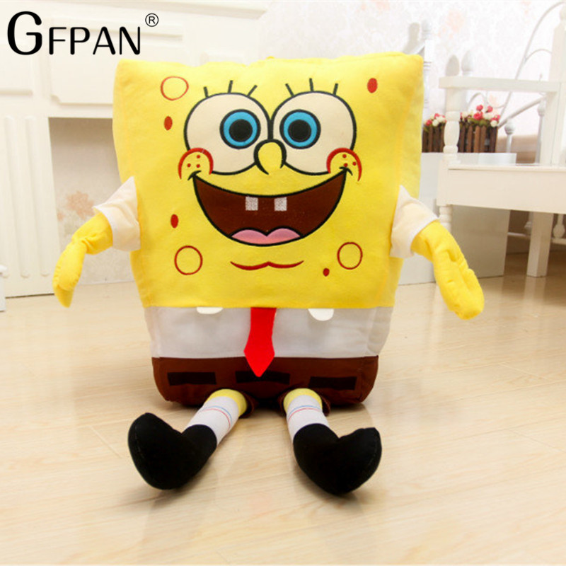 High Quality 1pc 80cm Spongebob Soft Plush Anime Cosplay Doll Toys Cartoon Figure Cushion Christmas Gift For Kids Baby стоимость