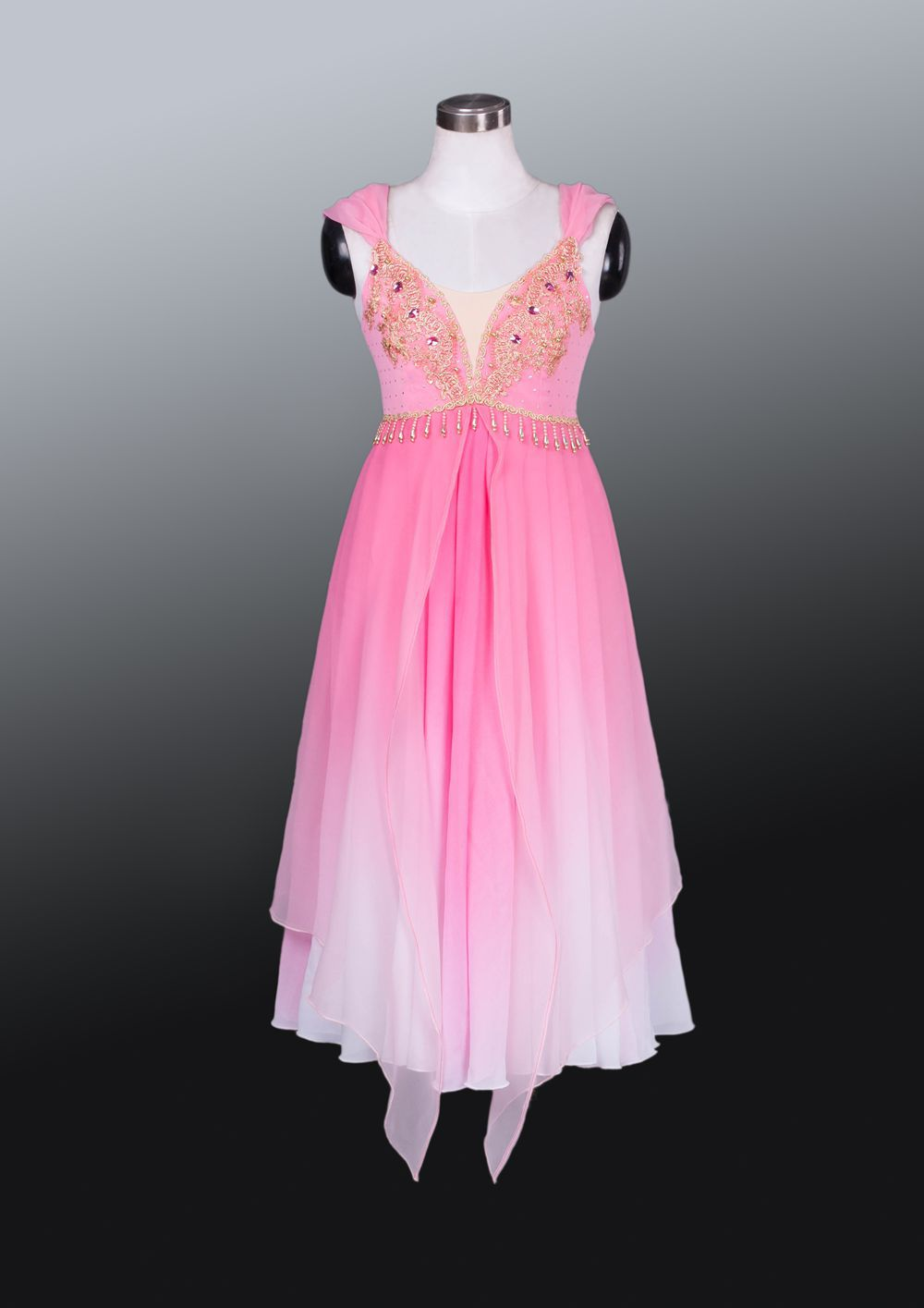 2015 new arrival adult child high quality chiffon pink long professional ballet dress performance ballet dresses