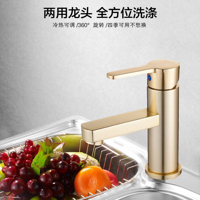 Basin Faucet Brass Polished Rose Gold Black Bathroom Faucet Single Handle Single Hole Sink Tap Hot Cold Deck Mounted micoe hot and cold water basin faucet mixer single handle single hole modern style chrome tap square multi function m hc203
