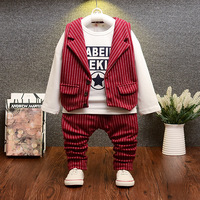 Small Children S Clothing Boy 2017 Autumn Three Sets Of European And American Models Casual Stripes