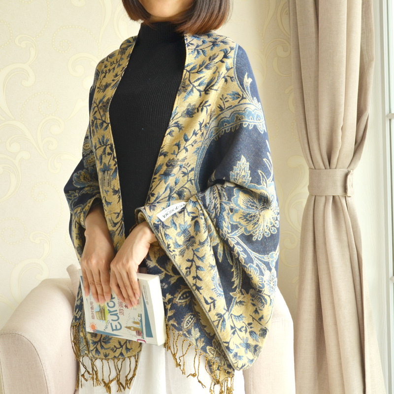 AODEK Super Big Size Japanese Style Winter Scarf Cotton And Linen Bubble Long Womens Scarves Shawl Men Scarf