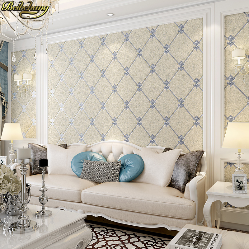 beibehang Jane European shaped lattice papel de parede 3D wallpaper roll for wall living room network wall paper ROLL home decor beibehang printing papel de parede 3d wallpaper roll papel pintado floral rolls flocking living room bedroom sofa tv wall paper