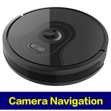 2019 высококлассная камера навигация робот пылесос, Wi-Fi приложение контролируется, точка останова продолжить очистку, регулируемая мощность всасывания