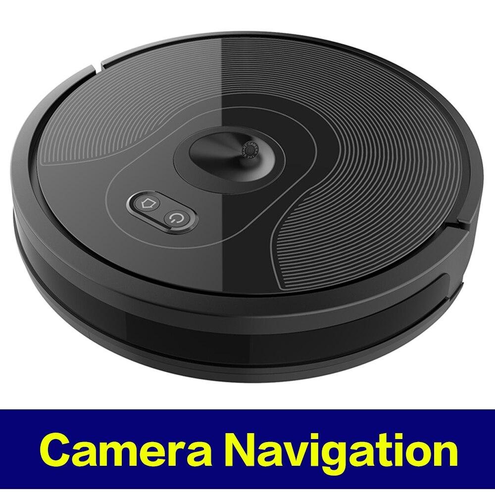 2019 High-End Da Câmera de Navegação Robô Aspirador de pó, WIFI APP controlada, Breakpoint Continuar A Limpeza, poder De Sucção ajustável