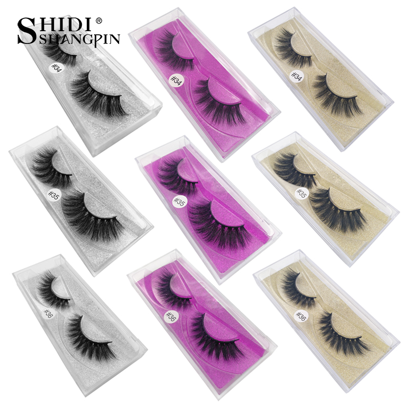 SHIDISHANGPIN 1 Pair Mink Eyelashes Natural Long 3d Mink Lashes 1cm-1.5cm Eyelashes False Lashes False Eyelash 1 Box Lashes
