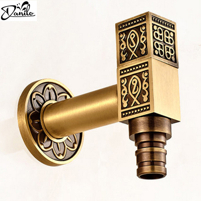 Top Fashion Antique Brass Bathroom Laundry Wall Mount Washing ...