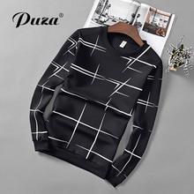 PUZA Printed T-Shirt Men Black T Shirt Mens Fashion men T Shirts Casual brand Clothing Tshirt long sleeve