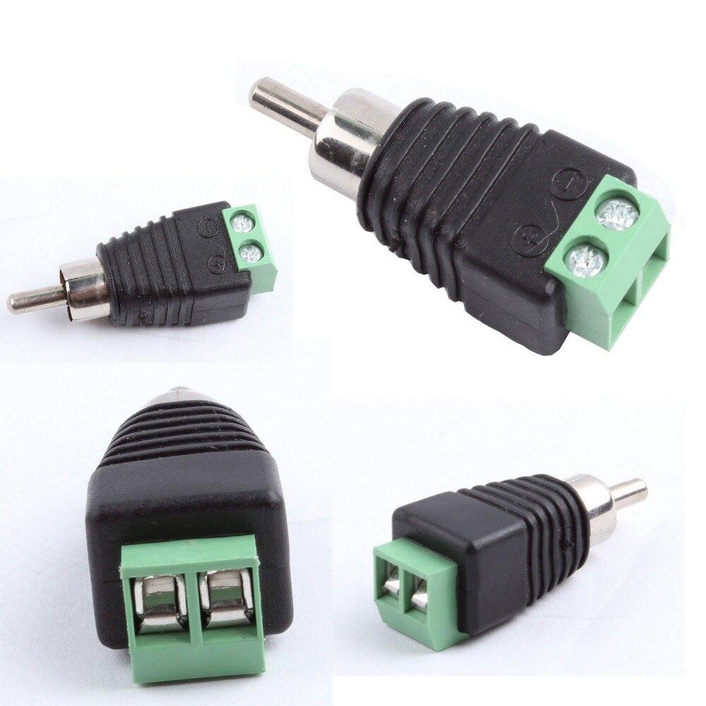 50 stücke Phono Lautsprecherkabel kabel zu männlichen CINCH Stecker ...