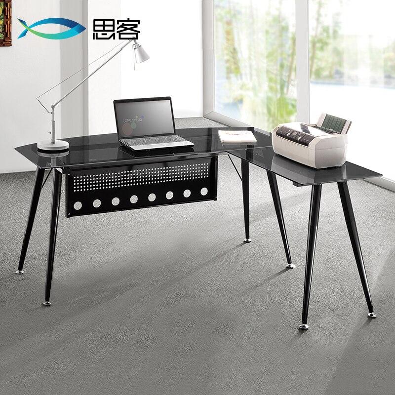 Mejor invitados estudio muebles cristal computadora - Mesa escritorio esquina ...